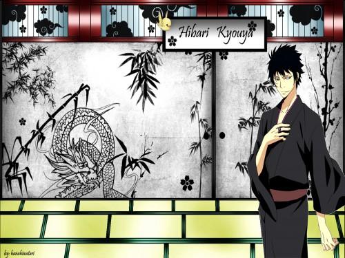 Akira Amano, Artland, Katekyo Hitman Reborn!, Hibird, Kyoya Hibari Wallpaper