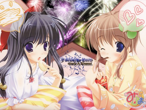 Mikeou, Miracle Romance Strawberry Scramble, Kaede Tsukimiya, Ai Takahara Wallpaper