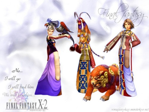 Square Enix, Final Fantasy X-2, Yuna, Paine, Rikku Wallpaper
