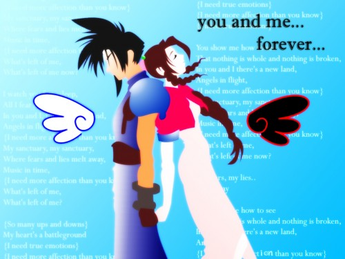 Final Fantasy VII, Final Fantasy VII: Crisis Core, Aerith Gainsborough, Zack Fair Wallpaper