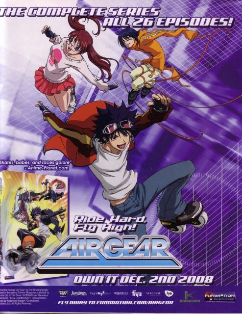 Oh! Great, Toei Animation, Air Gear, Akito Wanijima, Ringo Noyamano