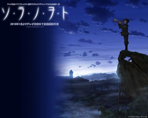 A-1 Pictures, Sora no Woto, Kanata Sorami, Official Wallpaper