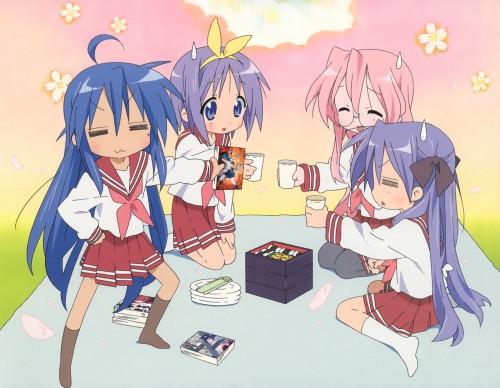 Lucky Star, Miyuki Takara, Tsukasa Hiiragi, Kagami Hiiragi, Konata Izumi