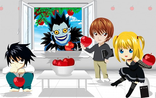 Takeshi Obata, Death Note, Ryuk, L, Light Yagami Wallpaper