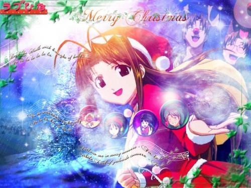 Ken Akamatsu, Love Hina, Naru Narusegawa, Motoko Aoyama, Shinobu Maehara Wallpaper
