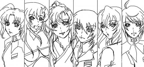 Sunrise (Studio), Mobile Suit Gundam SEED Destiny, Meer Campbell, Meyrin Hawke, Lacus Clyne