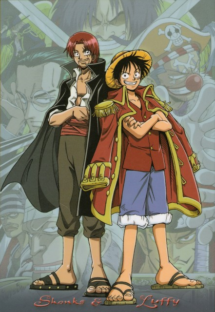 Eiichiro Oda, One Piece, Shanks, Gol D. Roger, Buggy