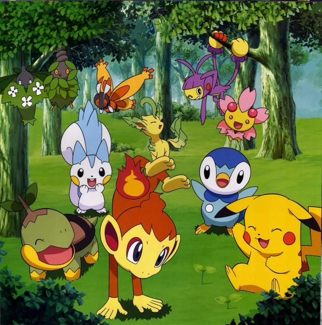 OLM Digital Inc, Nintendo, Pokémon, Chimchar, Cherrim
