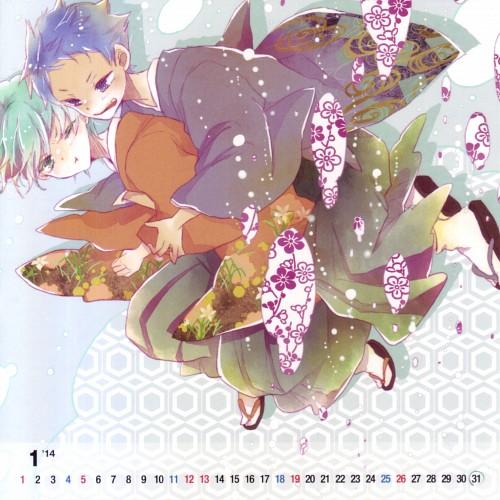 Kuroko no Basket, Happy Time With You - Aomine x Kuroko Calendar, Tetsuya Kuroko, Daiki Aomine, Doujinshi