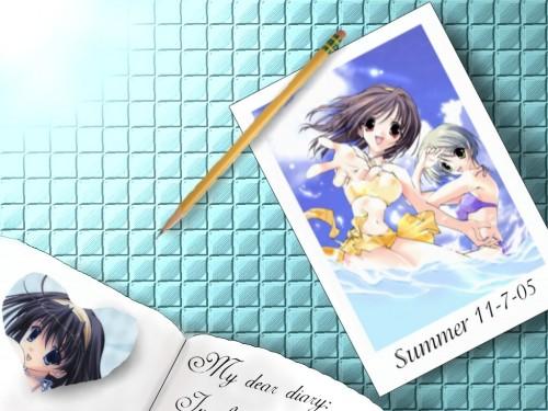 Mutsumi Sasaki, Memories Off, Kaoru Otowa, Ayaka Hizuki, Yue Imasaka Wallpaper
