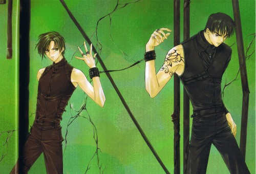 CLAMP, Legal Drug, Rikuo Himura, Kazahaya Kudou, Newtype Magazine