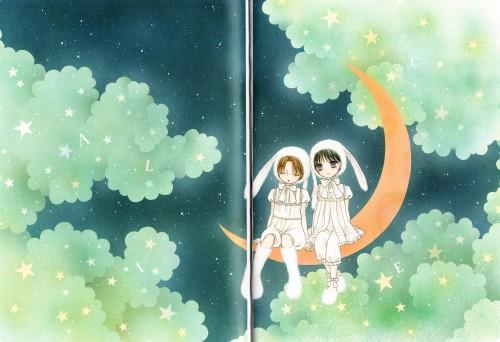 Tachibana Higuchi, Gakuen Alice, Gakuen Alice Illustration Fan Book, Mikan Sakura, Hotaru Imai