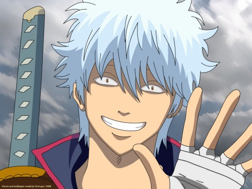 Sunrise (Studio), Gintama, Gintoki Sakata, Vector Art Wallpaper