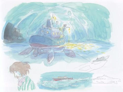 Hayao Miyazaki, Studio Ghibli, Gake no Ue no Ponyo, The Art of - Ponyo, Fujimoto