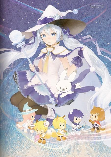 Snow Miku 5th Anniversary Memorial Book, Vocaloid, Rin Kagamine, Len Kagamine, Luka Megurine