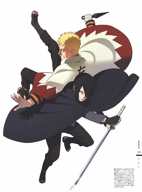 Naruto, The Art of Tetsuya Nishio: Full Spectrum, Sasuke Uchiha, Naruto Uzumaki