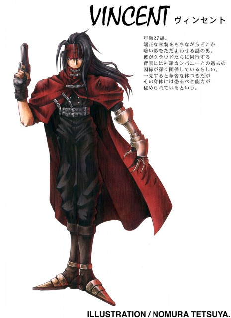 Square Enix, Final Fantasy VII, Vincent Valentine