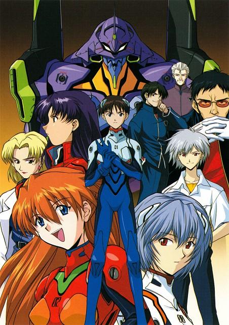 Gainax, Neon Genesis Evangelion, Shinji Ikari, Kaji Ryoji, Rei Ayanami