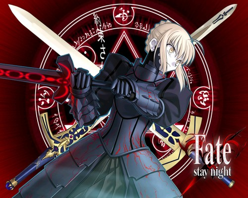 TYPE-MOON, Fate/Hollow ataraxia, Fate/stay night, Saber Alter, Magic Wallpaper