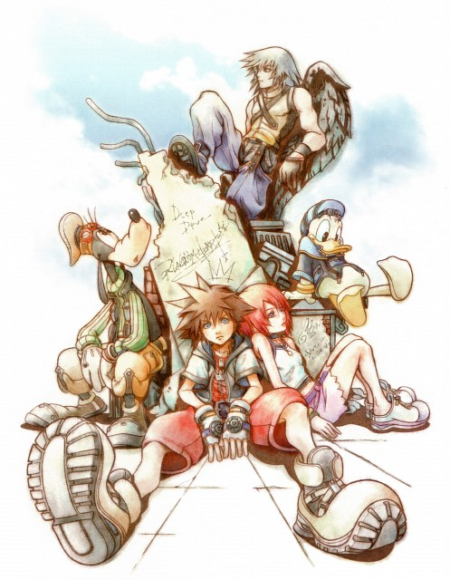 Square Enix, Kingdom Hearts Series Memorial Ultimania, Kingdom Hearts, Sora, Riku