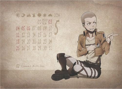 Hajime Isayama, Production I.G, Shingeki no Kyojin, Shingeki no Kyojin School Calendar 2014, Connie Springer