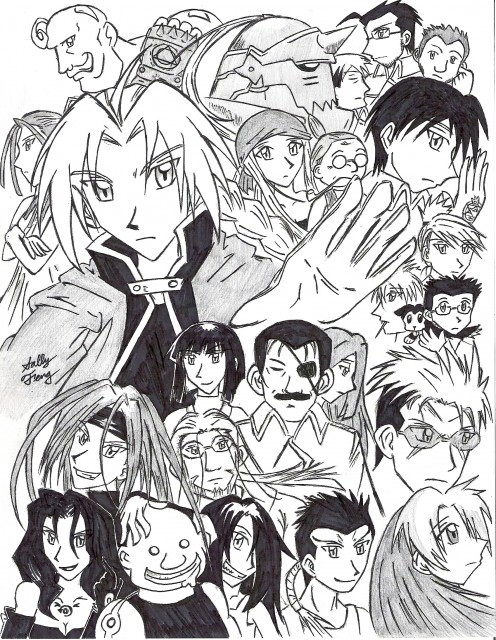 Hiromu Arakawa, BONES, Fullmetal Alchemist, Greed, Wrath