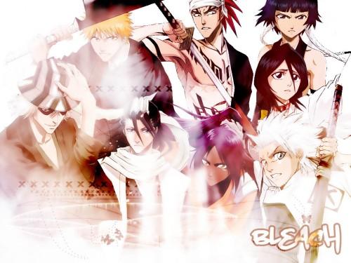Kubo Tite, Studio Pierrot, Bleach, Yoruichi Shihouin, Kisuke Urahara Wallpaper