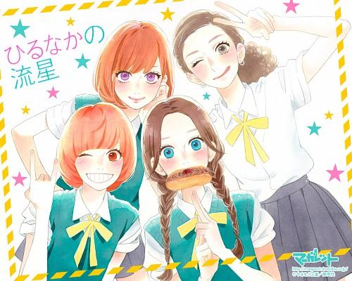 Mika Yamamori, Hirunaka no Ryuusei, Monika Tsuruya, Yuyuka Nekota, Suzume Yosano