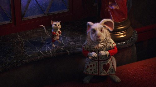 Disney, Alice In Wonderland (2010 Film), Dormouse, White Rabbit, Live Action