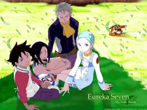 Kazuma Kondou, BONES, Eureka 7, Holland Novak, Renton Thurston Wallpaper