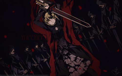 BUNBUN, TYPE-MOON, Fate/Hollow ataraxia, Saber Alter, Vector Art Wallpaper