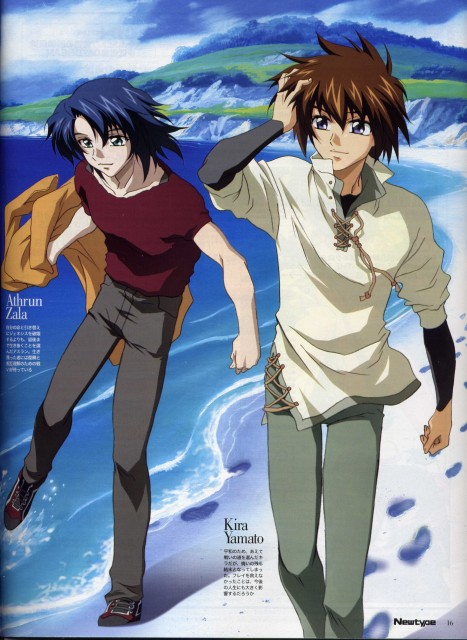 Sunrise (Studio), Mobile Suit Gundam SEED, Athrun Zala, Kira Yamato, Newtype Magazine