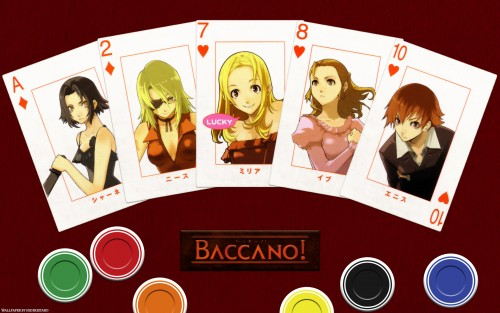 Baccano!, Nice Holystone, Chane Laforet, Ennis (Baccano!), Eve Genoard Wallpaper