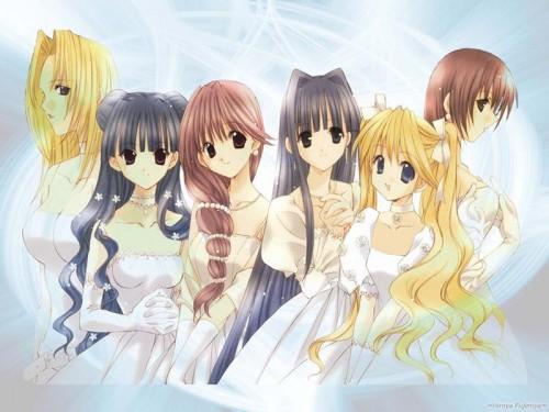 Aoi Nanase, Angel Dust, Musia Haga, Marino Kirashima, Seraph (Angel Dust) Wallpaper