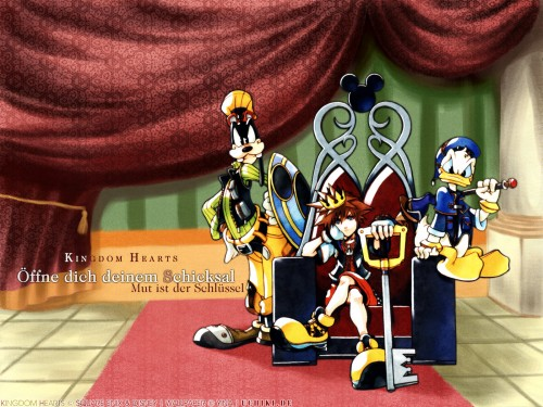 Square Enix, Kingdom Hearts, Donald Duck, Goofy, Sora Wallpaper