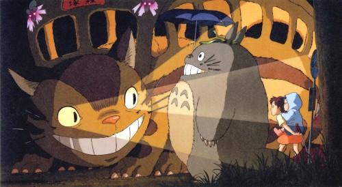 Hayao Miyazaki, Studio Ghibli, My Neighbor Totoro, Catbus, Totoro