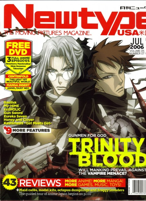 Atsuko Nakajima, Trinity Blood, Tres Iqus, Abel Nightroad, Magazine Covers