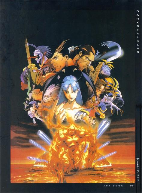 Capcom, Fight - Artbook IV, Dark Stalkers, Anita (Dark Stalkers), Hsien-ko