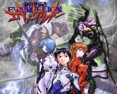 Neon Genesis Evangelion, Shinji Ikari, Rei Ayanami, Asuka Langley Soryu Wallpaper