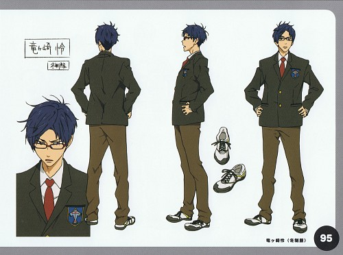 Kyoto Animation, Free!, Free! TV Animation Guide Book, Rei Ryuugazaki, Character Sheet