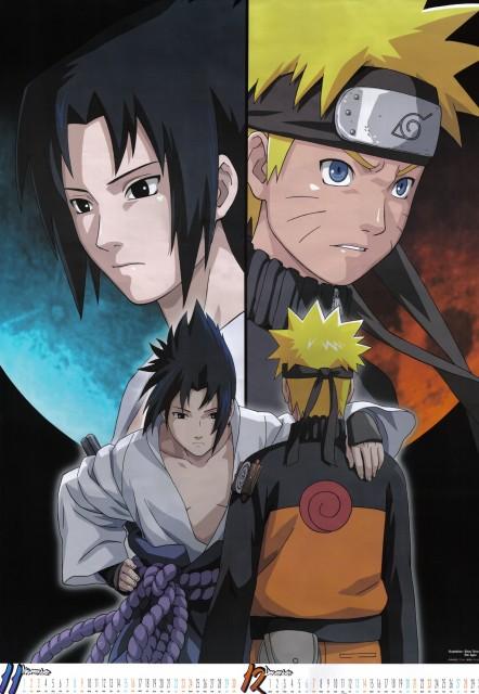 Studio Pierrot, Naruto, Naruto Uzumaki, Sasuke Uchiha, Calendar