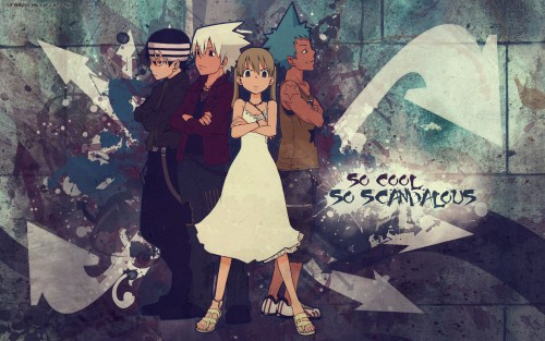 Soul Eater, Maka Albarn, Soul Evans, Black Star, Death The Kid Wallpaper