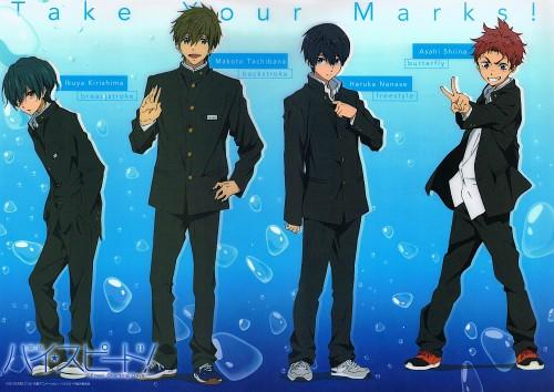 Kyoto Animation, Free!, Makoto Tachibana, Haruka Nanase (Free!), Asahi Shiina
