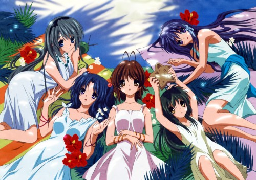 Kyoto Animation, Clannad, Tomoyo Sakagami, Kyou Fujibayashi, Fuko Ibuki