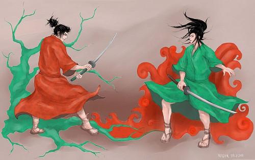 Takehiko Inoue, Vagabond, Musashi Miyamoto (Vagabond), Kojiro Sasaki Wallpaper