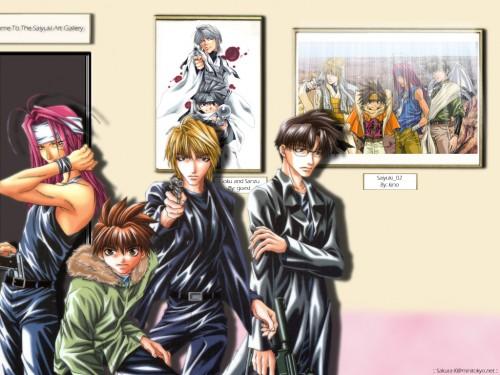 Kazuya Minekura, Studio Pierrot, Saiyuki, Cho Hakkai, Genjyo Sanzo Wallpaper