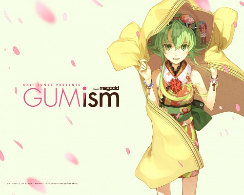 Hidari, Vocaloid, Gumi, Official Wallpaper