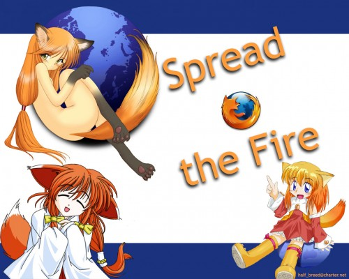 OS-tan, Firefox-tan Wallpaper