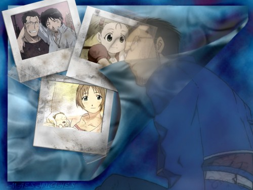 Hiromu Arakawa, BONES, Fullmetal Alchemist, Roy Mustang, Gracia Hughes Wallpaper
