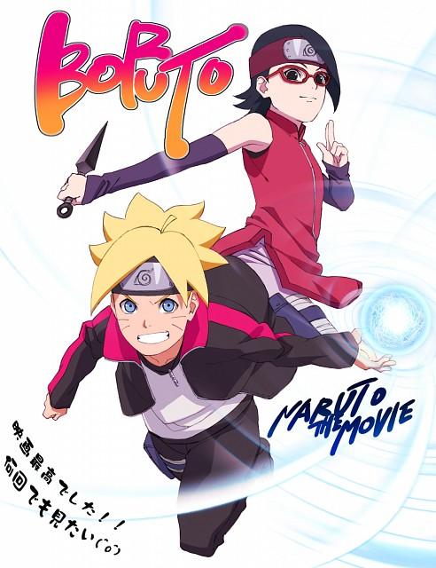Studio Pierrot, Naruto, Bolt Uzumaki, Sarada Uchiha, Official Digital Art